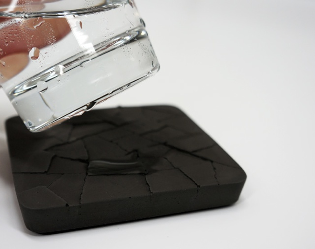 Cracked cement coasters for How to make concrete coasters
