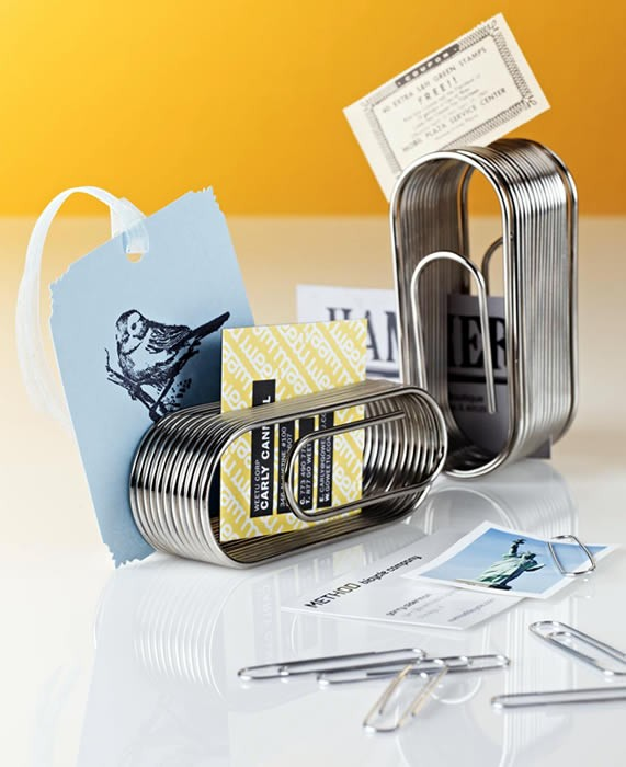 Giant Paper Clip Desk Organizer