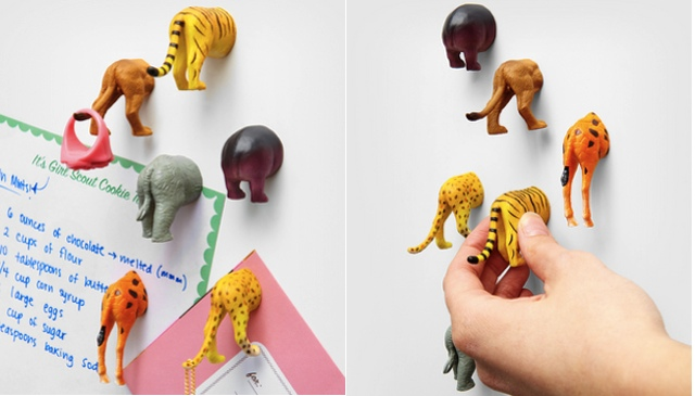 Safari Animal Butt Magnets