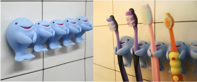 Whale Family Tooth Brush Holder