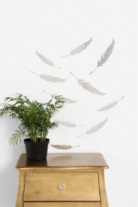 Mirrored Quill Wall Decal