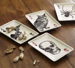 Ace of Skulls Appetizer Plates