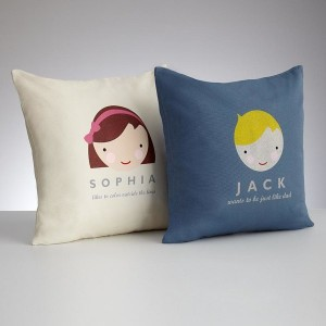 Personalized Kids Faces Pillow Cover