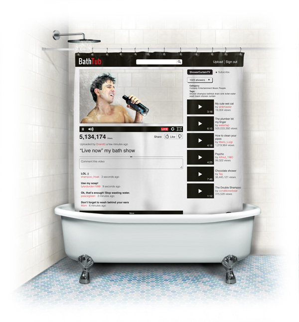 BathTub Shower Curtain
