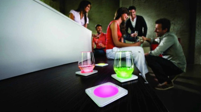 Philips 69154_11_48 Lumiware Color Changing Coasters_