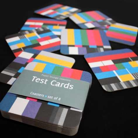 Test Cards Coasters