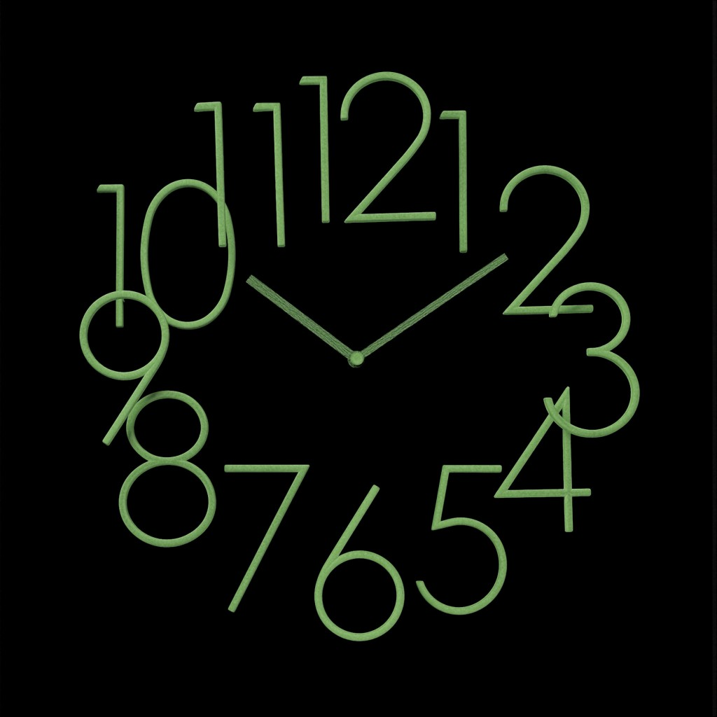 Light up wall clock wall designs glow in the dark wall clock aloadofball Image collections