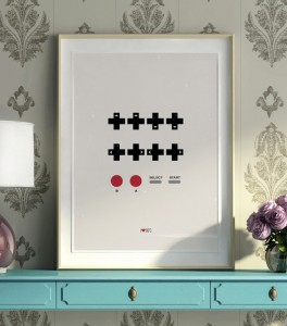 Video Game Cheat Code Print