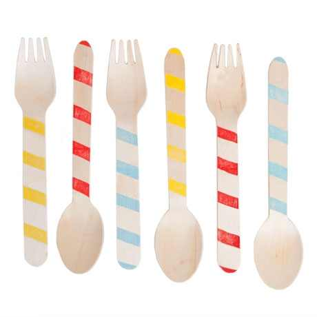 Wooden Party Utensils