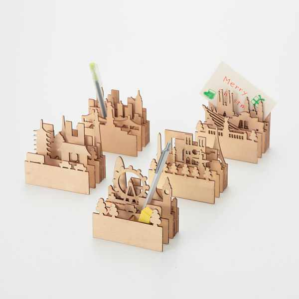 Cityscape Pen Holder