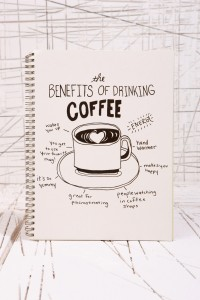 The Benefits of Drinking Coffee Notebook