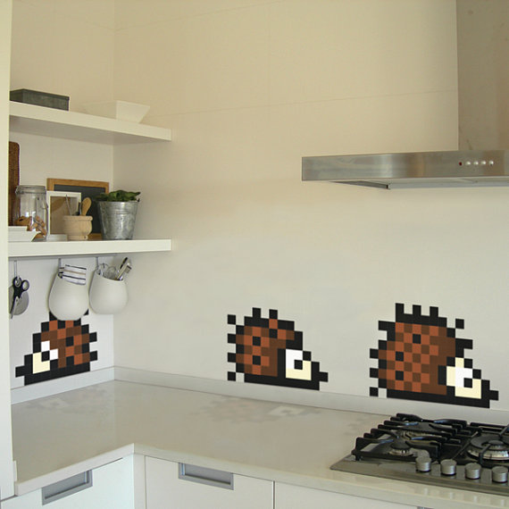 3 Hedgehog Pixel Decals