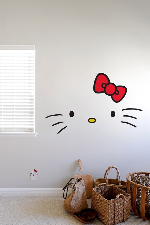Hello Kitty Faces Wall Decals