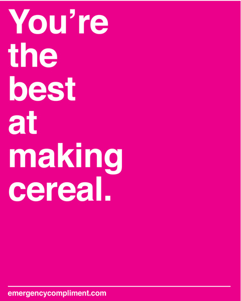 Making Cereal Print