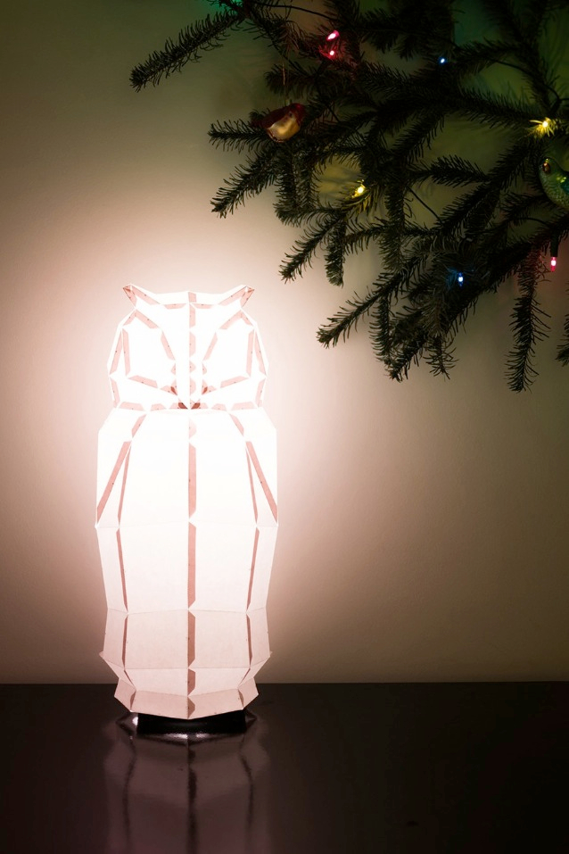 Owl Paper Lampshade