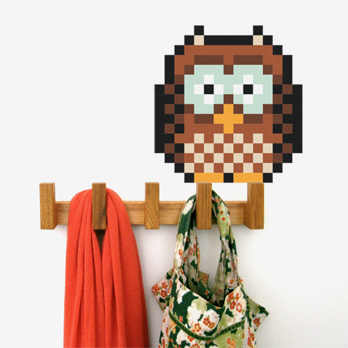 Owl Pixel Wall Decal