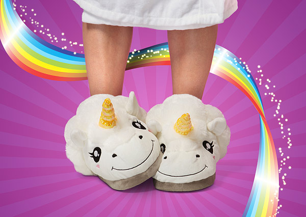 Plush Unicorn Slippers For Grown Ups2