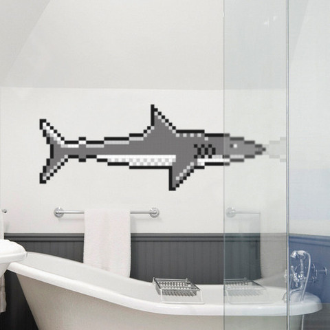 Shark Pixel Wall Decal