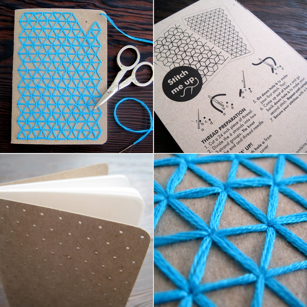 DIY Teal Embroidery Pocket Notebooks2
