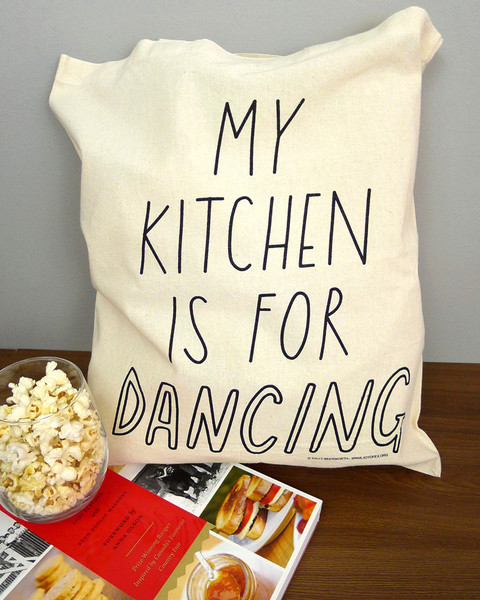 My Kitchen is For Dancing Tote Bag