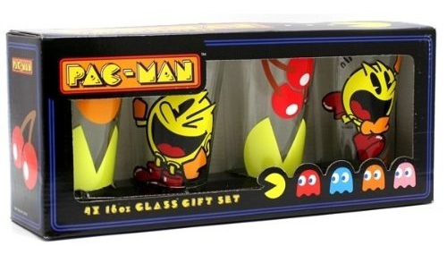 Retro Pac Man Video Game Drinking Glasses