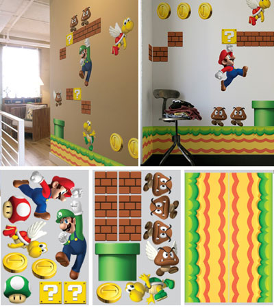 17 cool retro video game inspired stuff - Mario wall clings ...