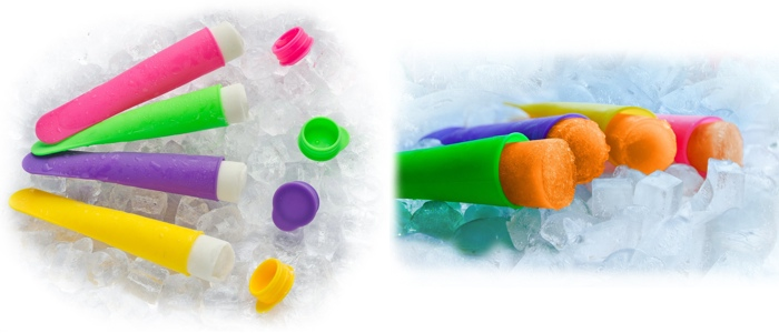 GRAZIA Silicone Ice Pop Maker Set