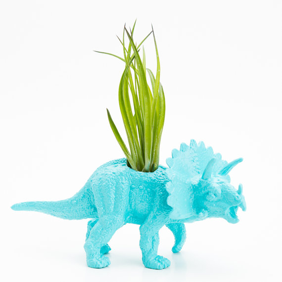 Small Dinosaur Planter with Air Plant Room Decor,