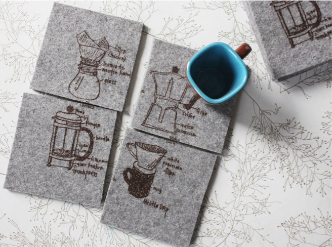 Coffee Four Ways Coasters
