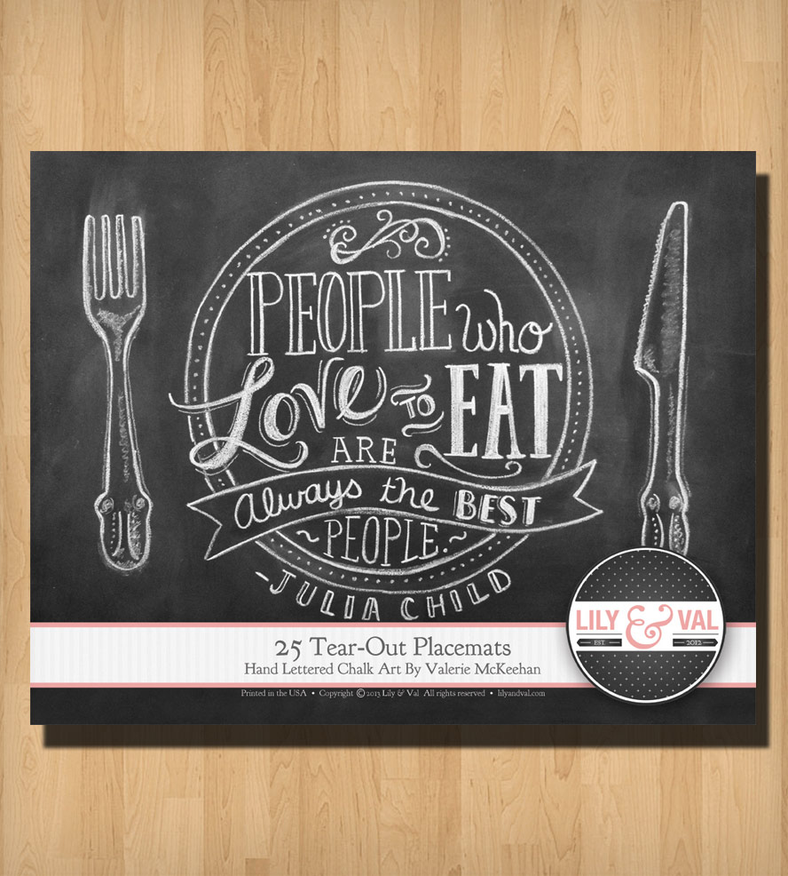 "Cooking-is-like-love-julia-placements-1367608850     Cooking-is-like-love-julia-placements-1367608868  25 Tear-Out ""Cooking is Like Love"" Challk Art Placemats"