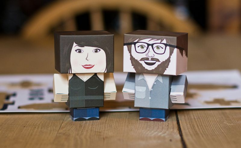 Foldable.Me Mini Cardboard Toys