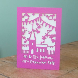 Personalized Laser Cut Wedding Invitation Card