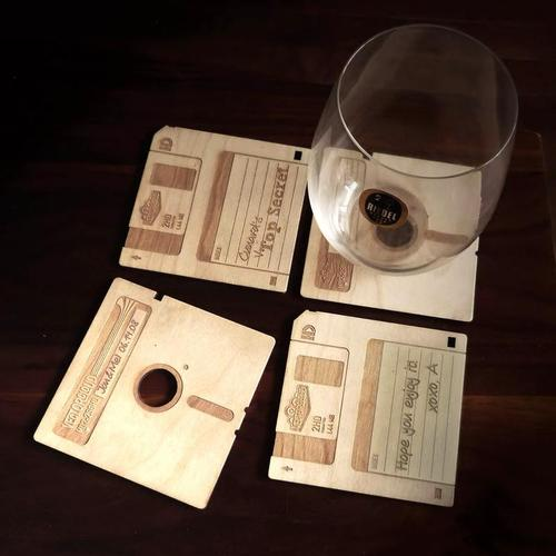 Creative product designs #37- Customizable Floppy Disk Coasters