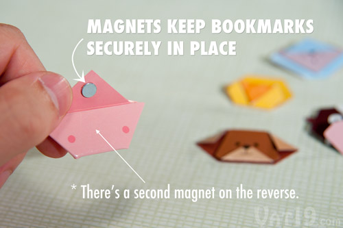 Magnetic Animal Bookmarks-magnets