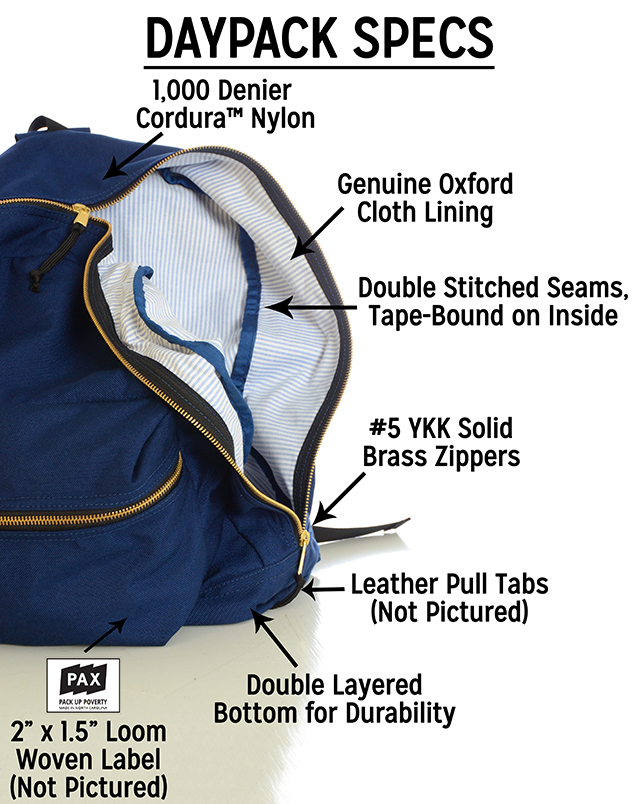 Pax Backpacks_Specs