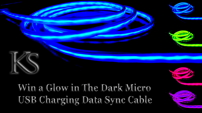Win a Glow in The Dark Charging and Sync Cable from KS Trend