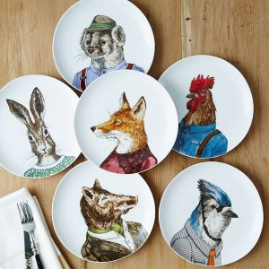Dapper Animal Plates