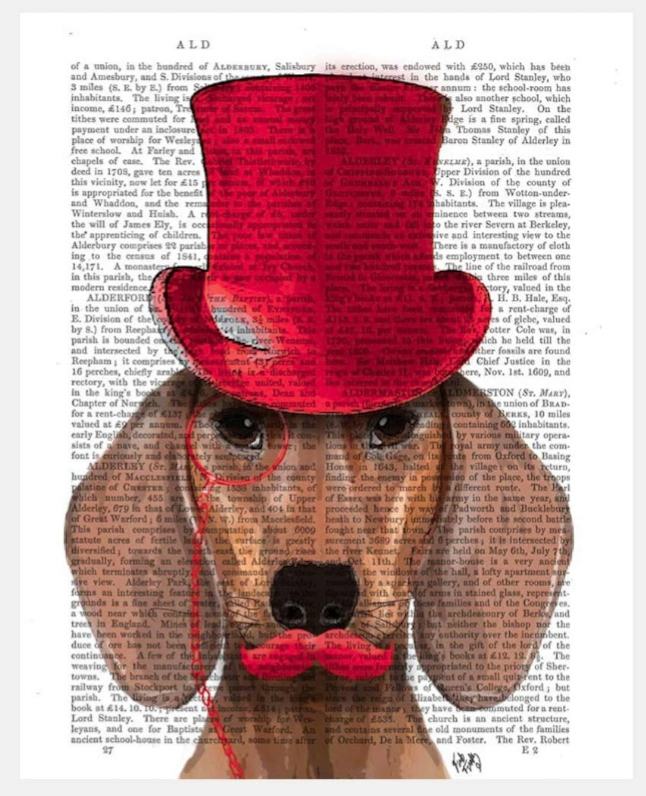 Dog with Top Hat