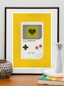 Heart GameBoy Print