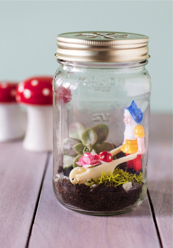 Little Gnome Fact DIY Terrarium