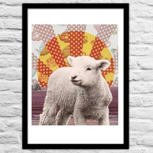 baa baa Sheep Wall Print