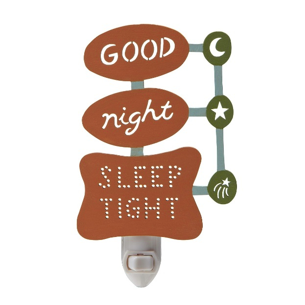 retro good night, sleep tight nightlight
