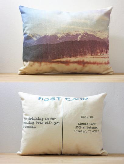 Custom Postcard Photo Pillows
