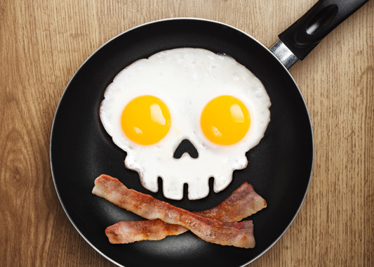 Funny Side Skull Egg Mould