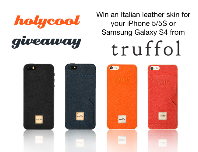 Win an Italian Leather Skin For iPhone 5/5S or Galaxy S4 by Truffol