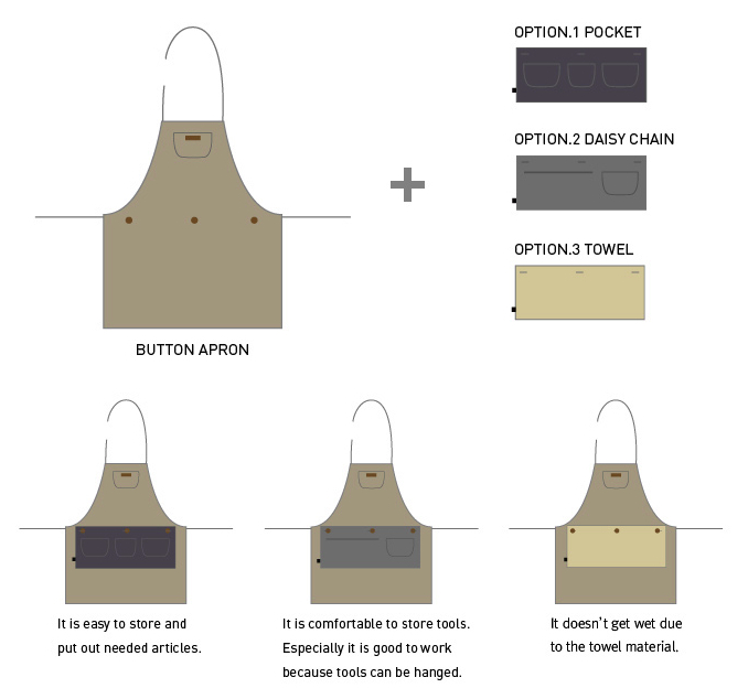 Button Apron