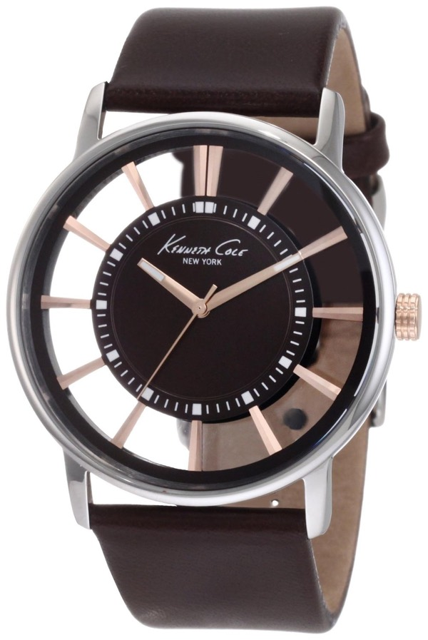 Kenneth Cole New York Men's KC1781 Transparent Clear Dial Round Watch