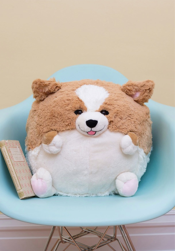 Plush One Pillow in Corgi