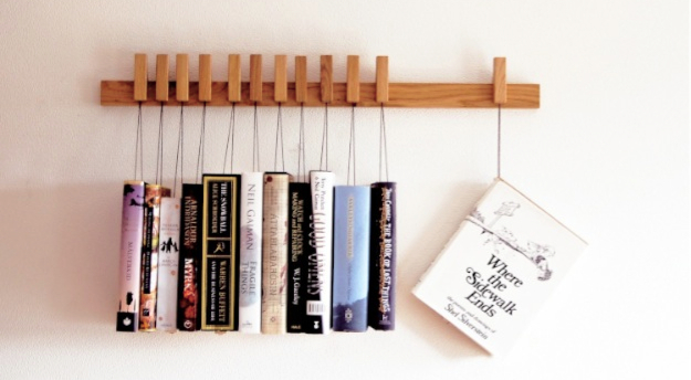 Custom made wooden book rack