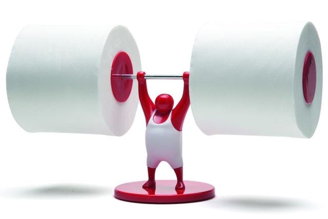 Mr T Designed Strong Man Weightlifter Bathroom Toilet Paper Tissue Roll Holder